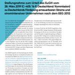 Cover Stellungnahme zum Urteil des EuGH vom 28. März 2019 (C-405/16 P