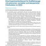 Cover Eine Experimentierklausel für Kraftfahrzeuge mit autonomer