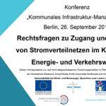 Cover Rechtsfragen zu Zugang und Nutzung von Stromverteilnetzen im Kontext der Energie- und Verkehrswende