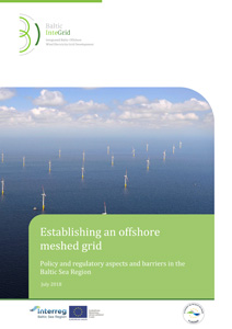 Cover Establishing an offshore meshed grid – Policy and regulatory aspects and barriers in the Baltic Sea Region