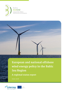 Cover European and national offshore wind energy policy in the Baltic Sea Region – A regional status report