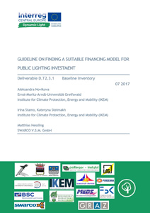 Cover Guideline on finding a suitable financing model for public lighting investment: Deliverable D.T2.3.1 Baseline inventory.