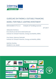 Cover Guideline on finding a suitable financing model for public lighting investment: Deliverable D.T2.3.2 Analysis of funding sources