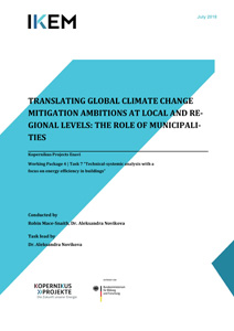 Cover Translating global climate change mitigation ambitions at local and regional level: the role of municipalities