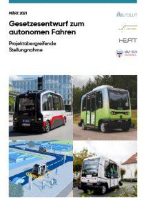 Cover Gesetzesentwurf zum autonomen Fahren