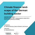 Cover Climate finance landscape of the German building sector
