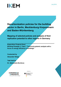 Cover Decarbonization policies for the building sector in Berlin