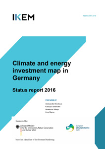 Cover Climate and energy investment map in Germany – Status report 2016