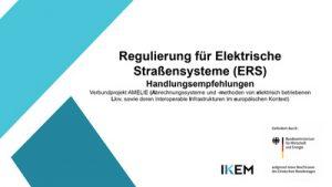Cover Regulierung für Elektrische Straßensysteme (ERS) – Handlungsempfehlungen