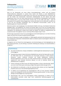Cover Stellungnahme zum Entwurf eines Gesetzes zur Bevorrechtigung des Carsharing
