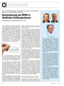 Cover Revitalisierung des ÖPNV in ländlichen Siedlungsräumen