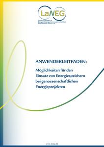 Cover Möglichkeiten für den Einsatz von Energiespeichern bei genossenschaftlichen Energieprojekten