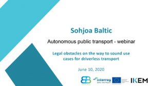 Cover Legal obstacles on the way to sound use cases for driverless transport