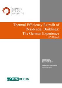 Cover Thermal Efficiency Retrofit of Residential Buildings: The German Experience