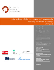 Cover Information Tools for Energy Demand Reduction in the Existing Residential Buildings