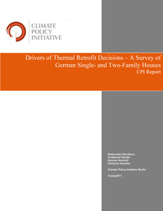 Cover Drivers of Thermal Retrofit Decisions – A Survey of German Single- and Two-Family Houses