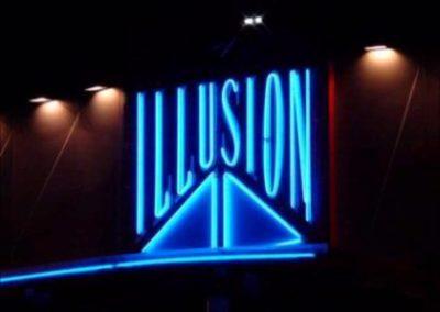 The iconic neon