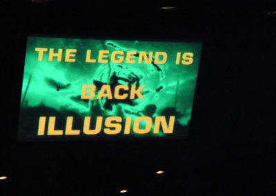 the plasma-screen after the re-opening (after the razzia)