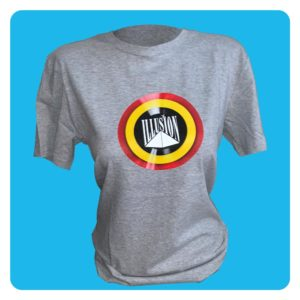 T-Shirt Belgian Retro Night Grijs