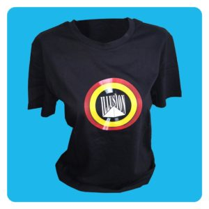 T-Shirt Belgian Retro Night Zwart