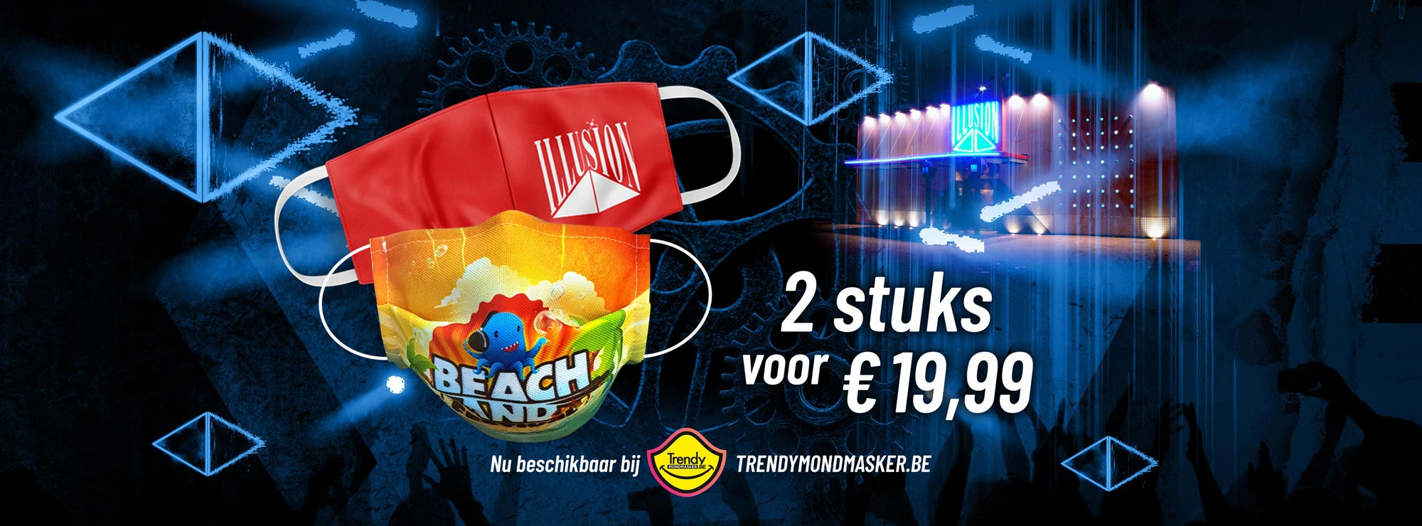 Beachland en Illusion Mondmasker pack