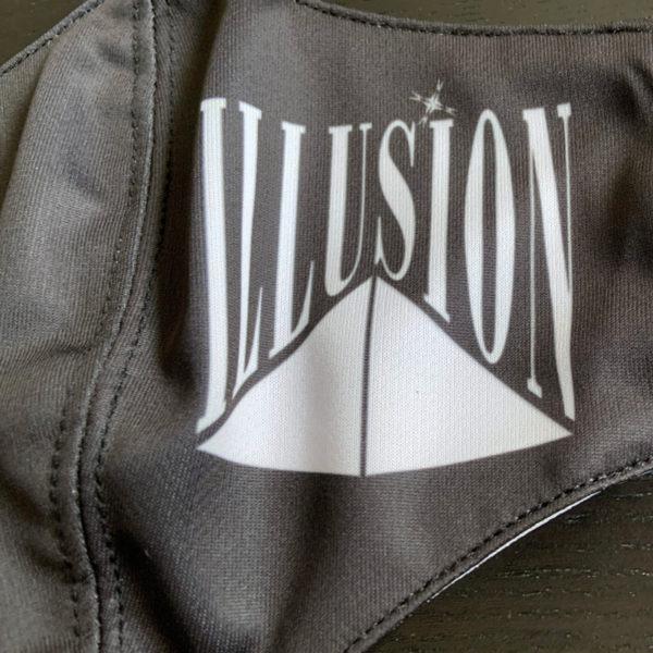 Illusion Zwart Mondmasker