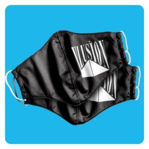 Mondmasker Illusion Duopack 2x Zwart