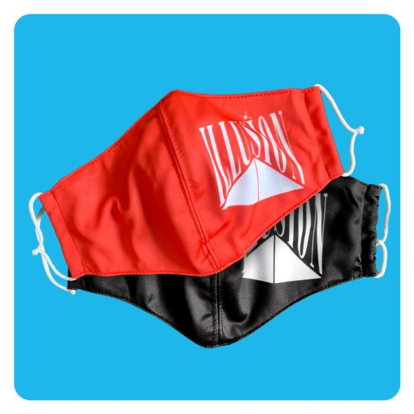 Mondmasker Illusion Duopack Rood-Zwart