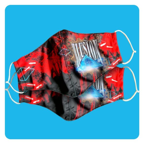Mondmasker Illusion Duopack 2x Steampunk