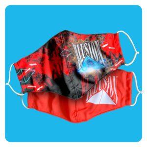 Mondmasker Illusion Duopack Rood-Steampunk