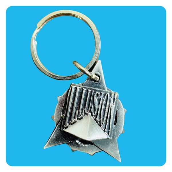 Metalen sleutelhanger uit 1998