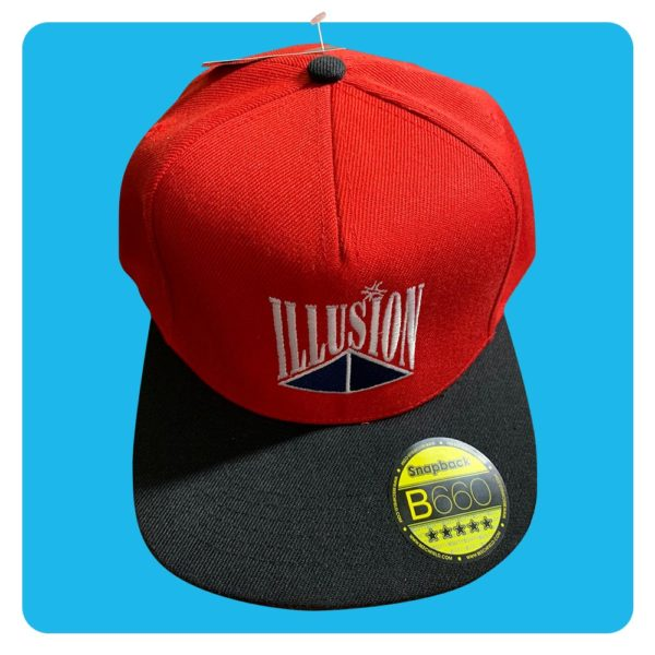 Snapback Illusion Red/Black/Green
