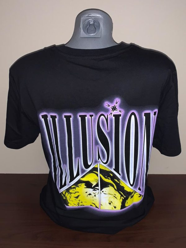 "T-Shirt Illusion ""Mindblowing"" achterkant pop"