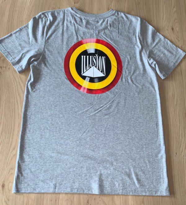 T-Shirt Belgian Retro Night Grijs (achter)