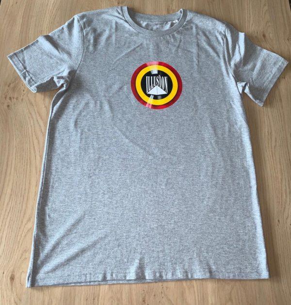 T-Shirt Belgian Retro Night Grijs (voor)