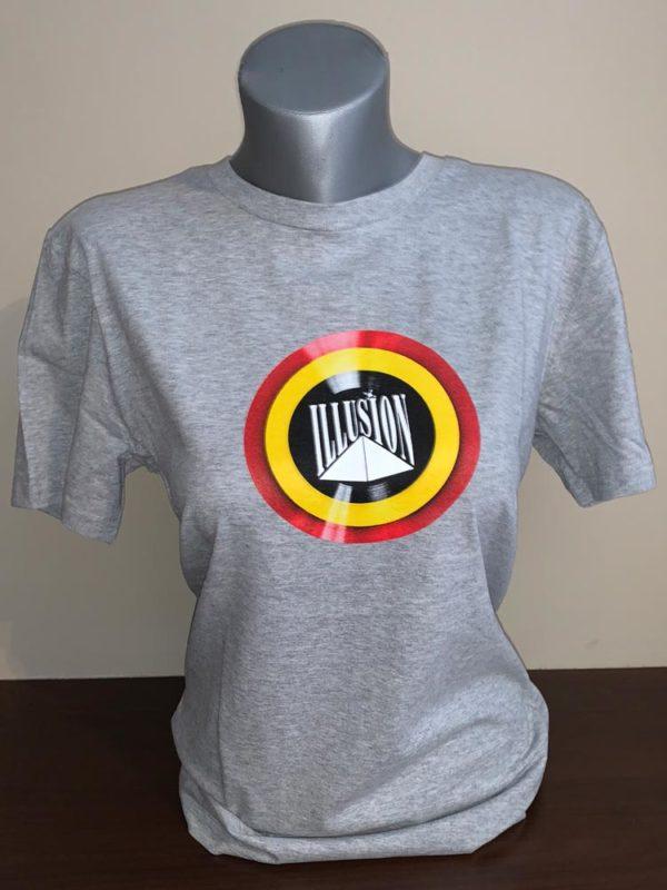 T-Shirt Belgian Retro Night Grijs (Pop - voor)