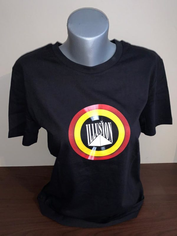 T-Shirt Belgian Retro Night Zwart (Pop - Voor)
