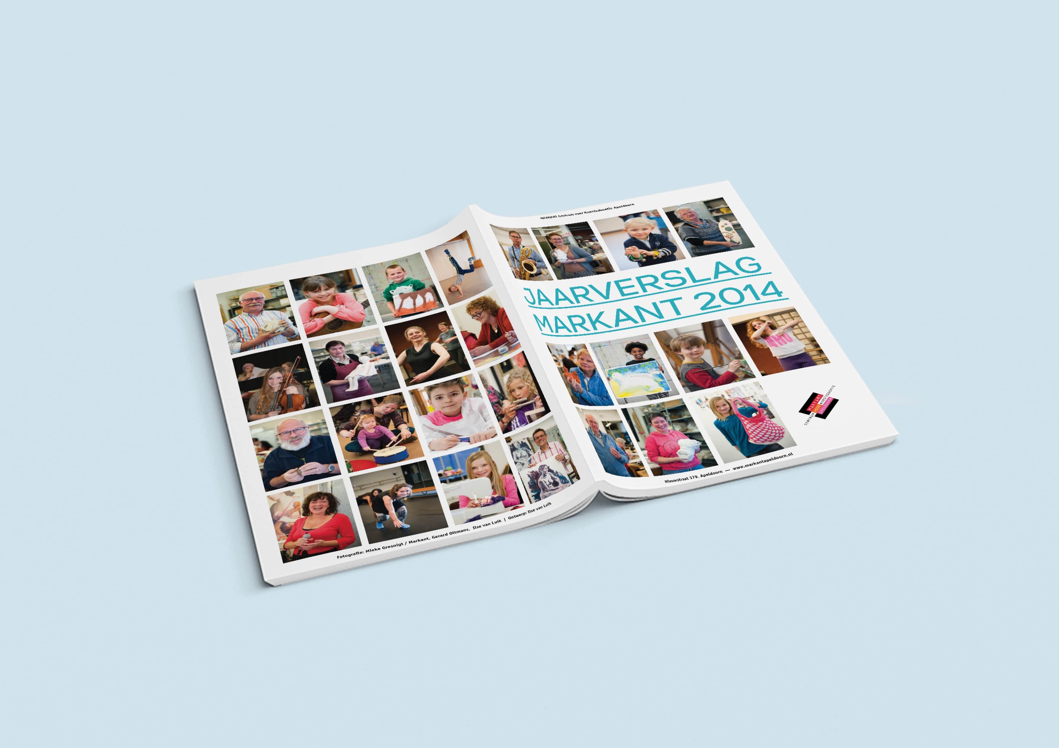 Markant jaarverslag ontwerp