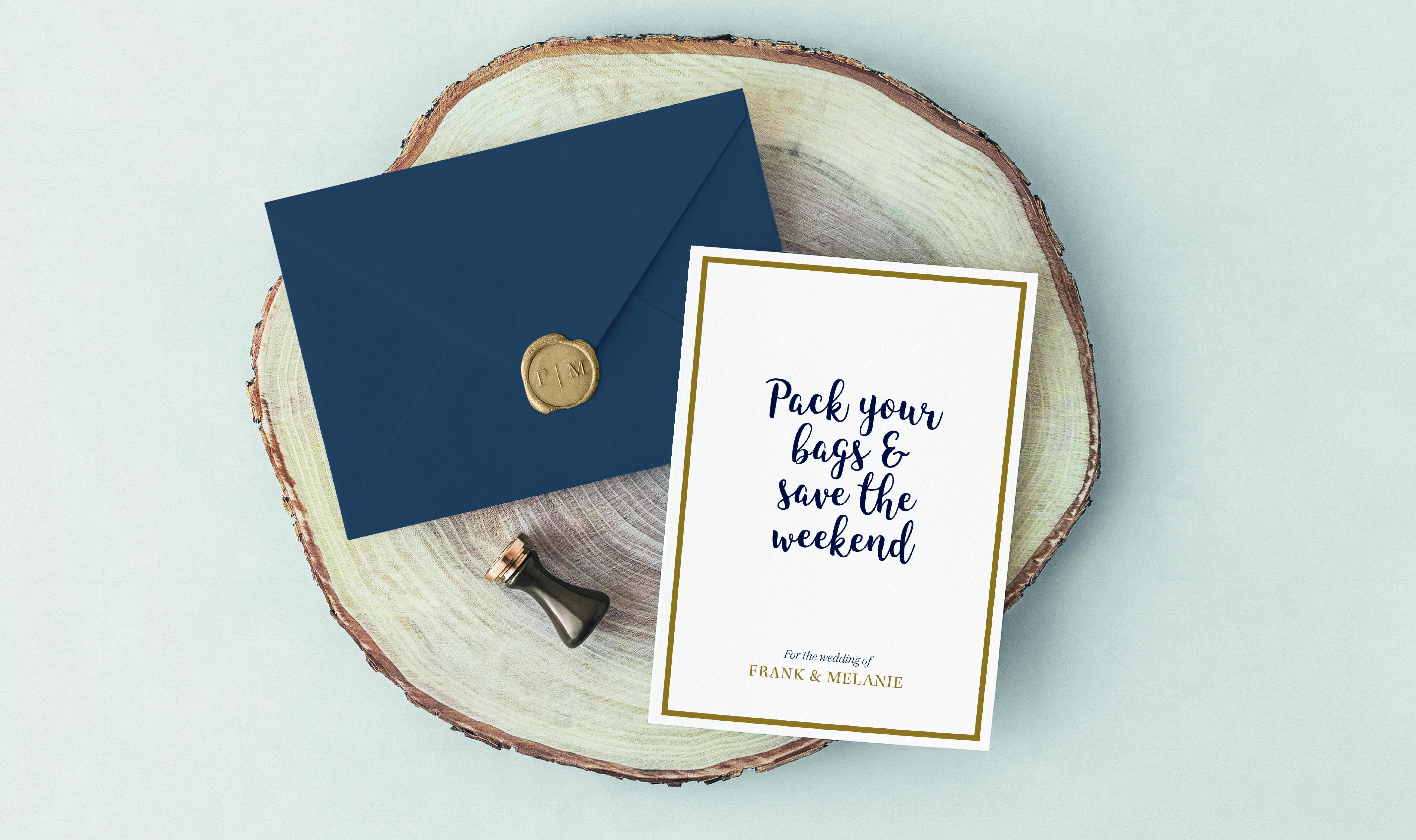 Save the date trouwkaart ontwerp A5 kaart