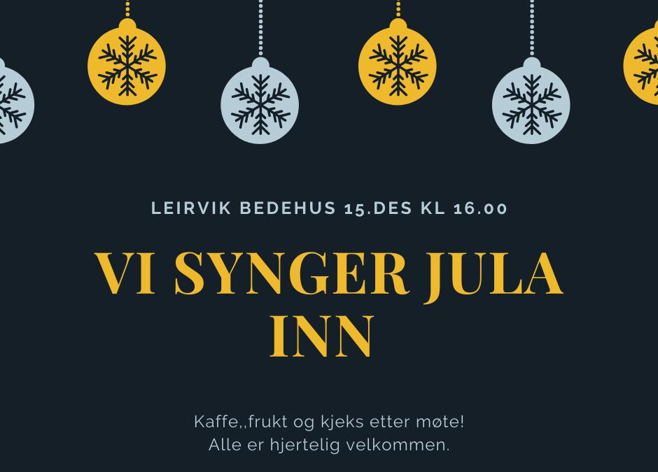 Vi synger Jula inn