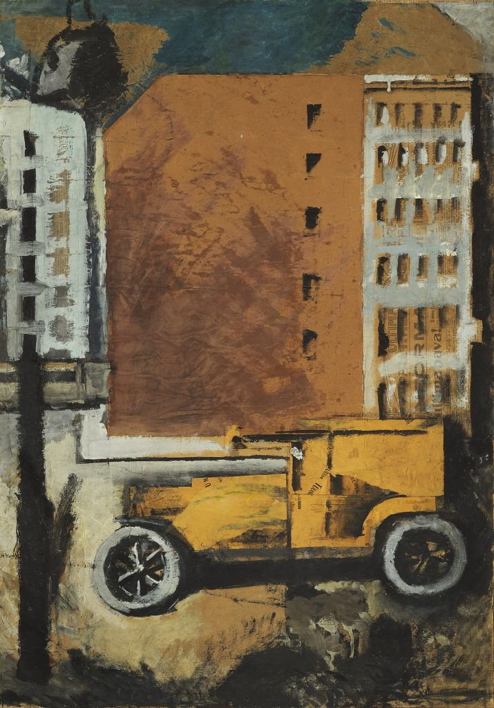 Mario Sironi Il camion giallo, 1919 - © by SIAE 2021