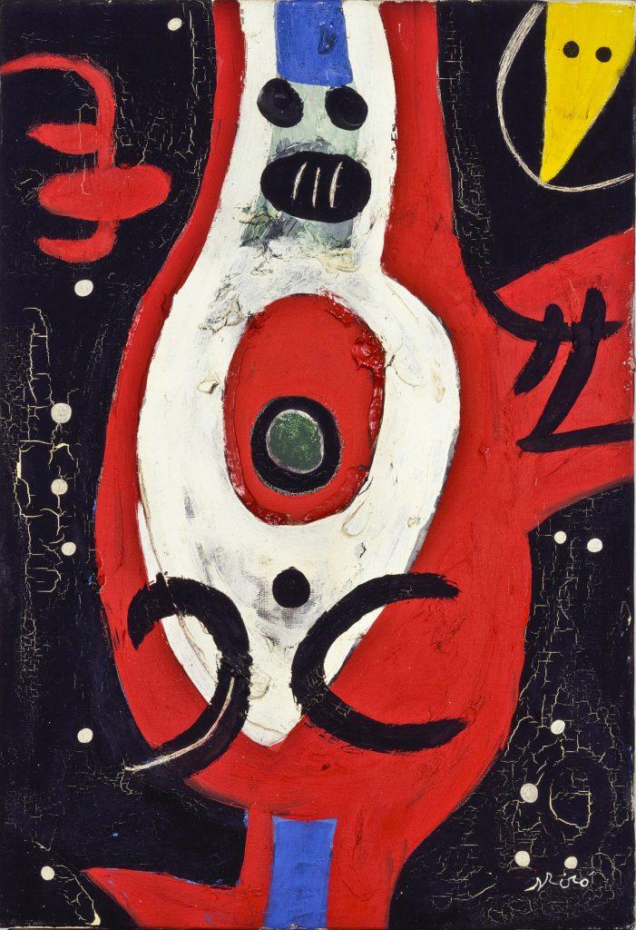 Joan Miró, Femme, oiseaux, constellations, 1976, olio su tela. Foto Joan Ramon Bonet. Archivo Successió Miró. © Successió Miró : ADAGP, Paris, by SIAE 2021