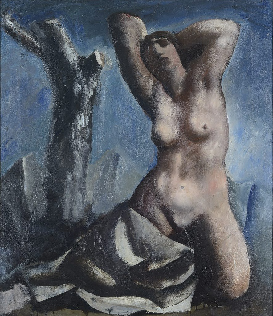 Mario Sironi Nudo e albero, 1931 ca. - © by SIAE 2021