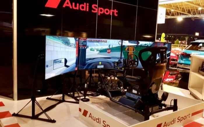 Race simulator branding