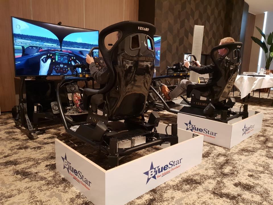 Blue start race simulator huren