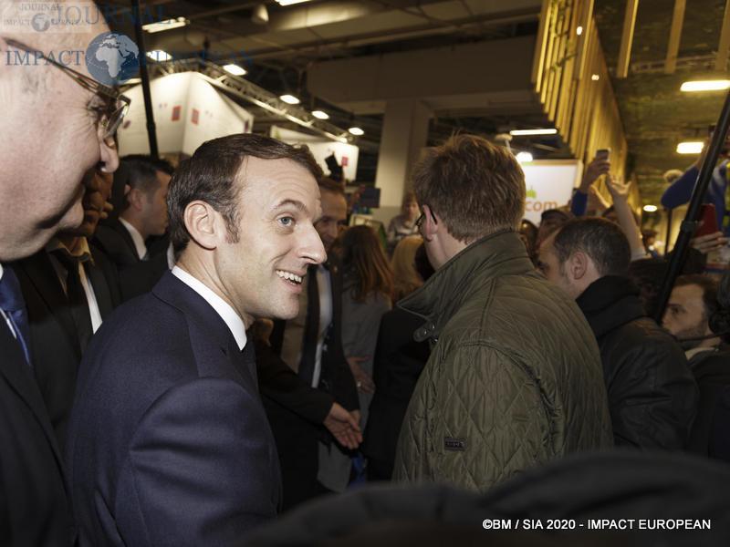 Le Président Emmanuel Macron au 57ème Salon de l'agriculture.