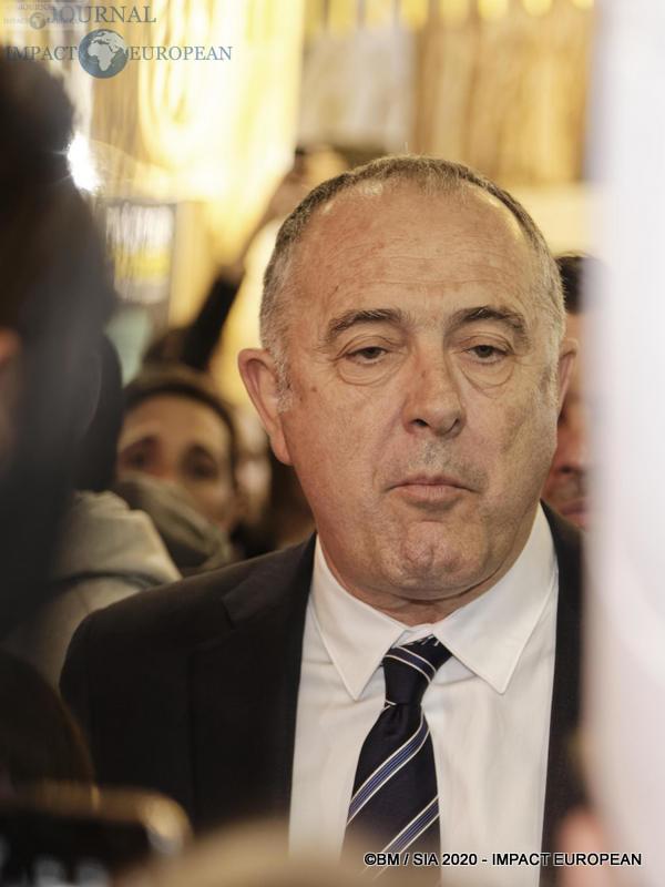 Le ministre de l'agriculture Didier Guillaume au 57ème Salon de l'agriculture.
