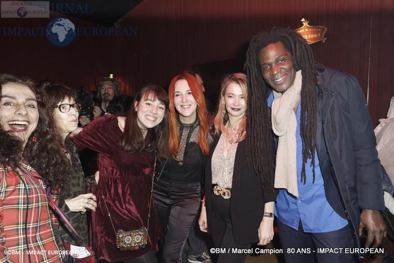 Ariana Kah, Geneviève Morissette, Vanessa Devevre et Jean-Jacques Berthieu _ Marcel Campion fête ses 80 ans au Cirque d'Hiver