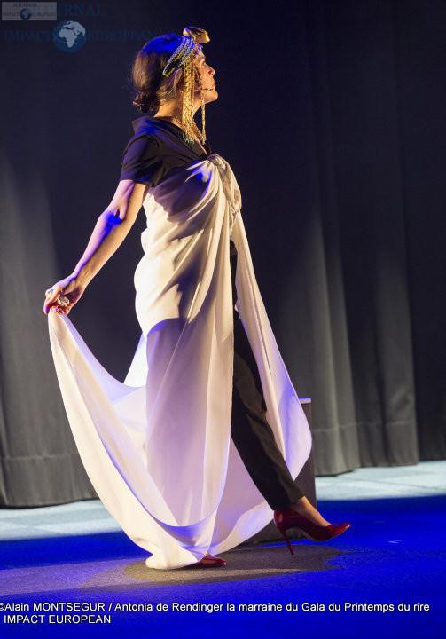 Antonia de Rendinger la marraine du Gala du Printemps du rire 2