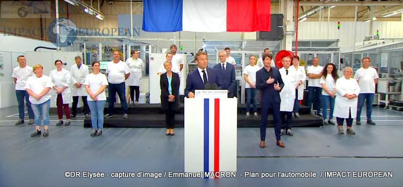 Emmanuel MACRON  - Plan pour l'automobile
